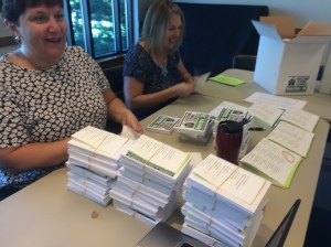 Sarah and Terri, our 2016 postcard organizers!