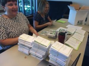Sarah and Terri, our 2016 postcard organizers!